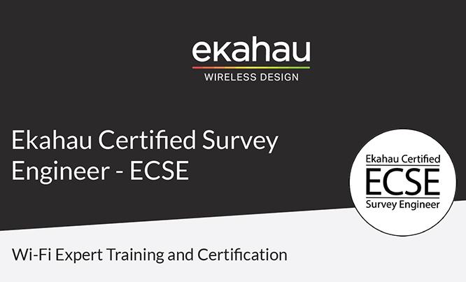 Curs si certificare ECSE Expert Wi-Fi Ekahau